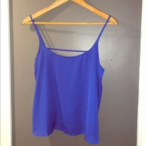 Blue crop top tank